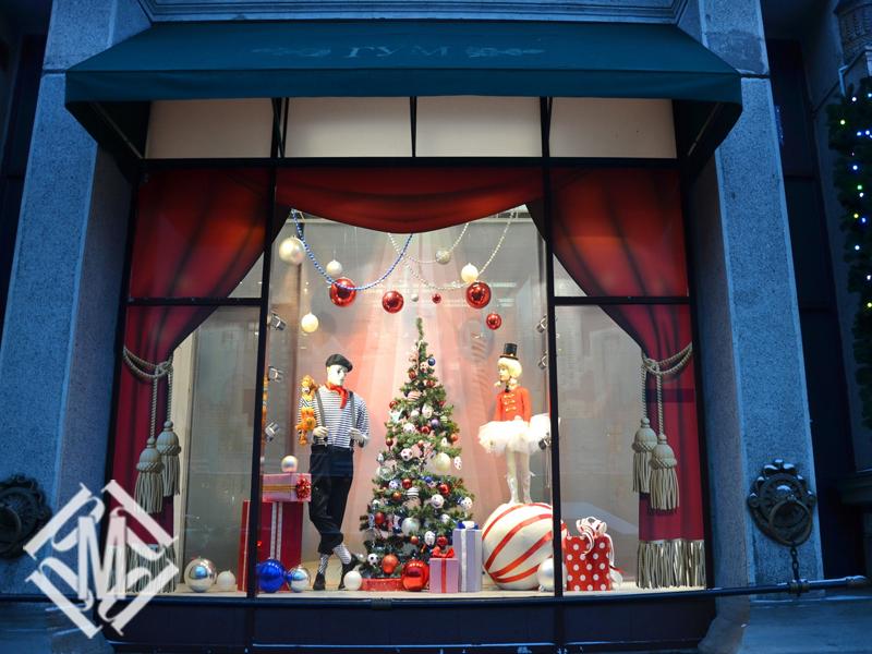 украсить витрины на новый год фото основные