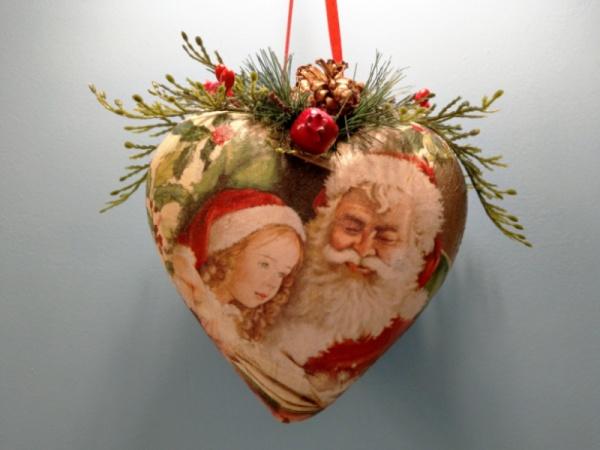 """Новогоднее украшение """"Санта-Клаус"""""""