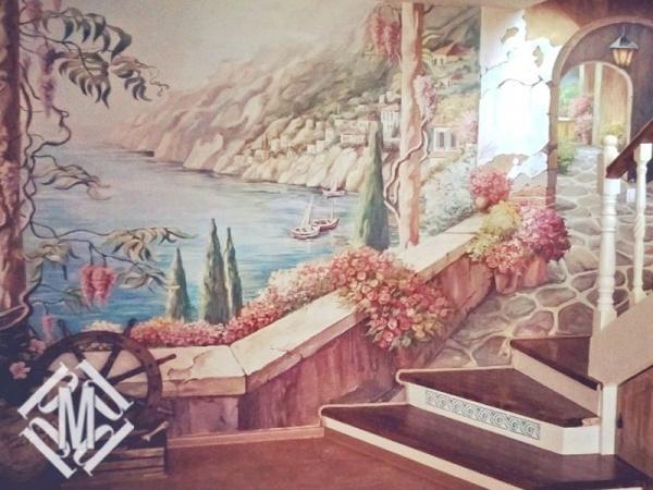 """Стена """"Испанский дворик"""""""