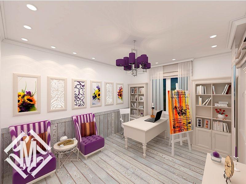 """Дизайн кабинета в стиле """"Прованс""""."""