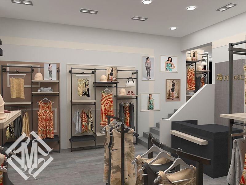 Дизайн магазина женской одежды.