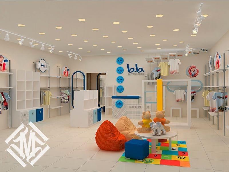Дизайн магазина детской одежды.